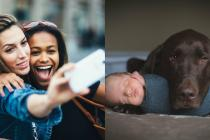 People were asked about their happiest pictures. Neither pouting selfies nor food porn made the cut