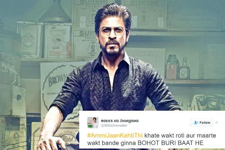 'Kaabil Udi Udi Jaye', Twitter is going berserk over #AmmiJaanKehtiThi from SRK'sRaees