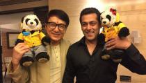 Jackie Chan met Salman Khan. Was bhaijaan not a big star before meetinghim?