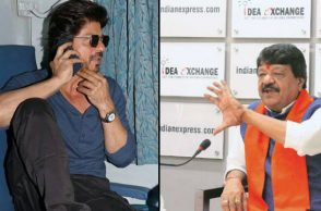 Shah Rukh Khan and Kailash Vijayvargiya