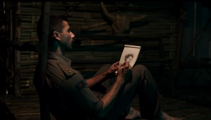 Shahid Kapoor in a still from Rangoon (Courtesy: YouTube/T-Series)