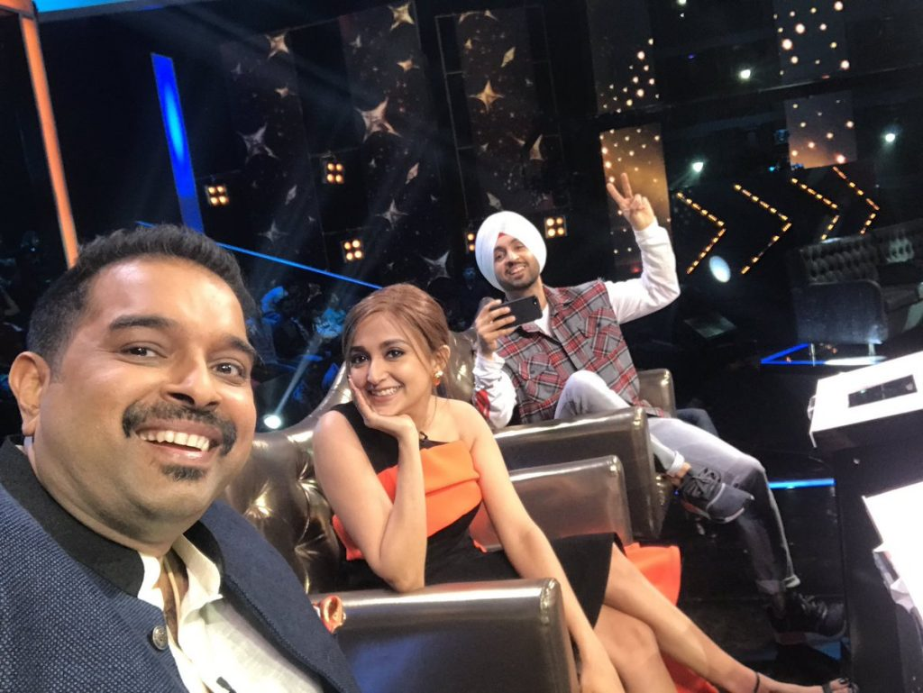Shankar Mahadevan, Diljit Dosanjh on the Bigg Boss sets