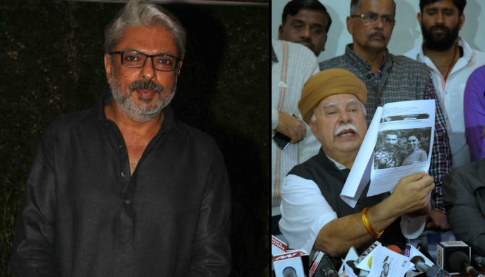 Sanjay Leela Bhansali and Karni Sena (Courtesy: IANS)