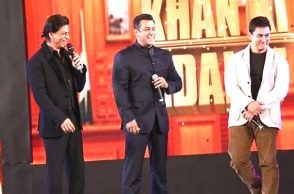 Shah Rukh, Salman and Aamir at an award show