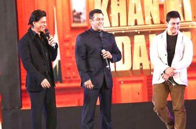 Shah Rukh, Salman and Aamir at an award show