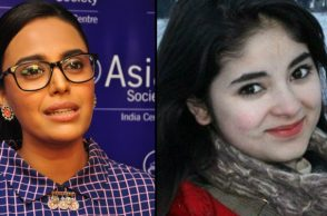 Swara Bhaskar (Courtesy: IANS) and Zaira Wasim (Courtesy: PTI)