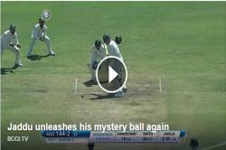 Watch: India v Australia Test : Ravindra Jadeja bowls 'mystery ball', nearly gets StevenSmith!