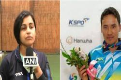 Shooters Heena Sidhu, Jeetu Rai win gold medal in mixed 10m Air Pistol event at ISSF World Cup
