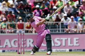 AB de Villiers striking the ball hard in third ODI