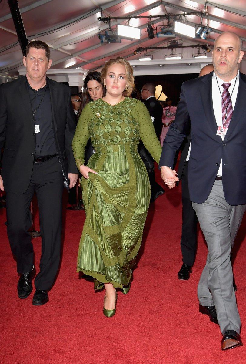 Adele Grammys 2017 Red Carpet