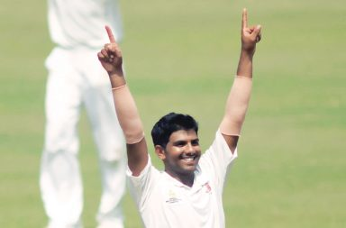 Akhil Herwadkar took the wicket of Mathew Wade in the first session