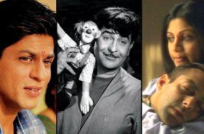 Shah Rukh Khan in Swades, Raj Kapoor in Mera Naam Joker, Salman Khan in Phir Milenge