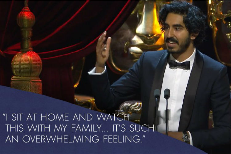 Dev Patel (Photo: Twitter/BAFTA)