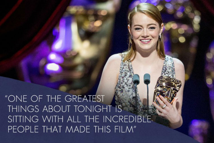 Emma Stone (Photo: Twitter/BAFTA)