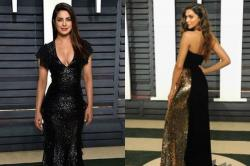 Priyanka Chopra and Deepika Padukone look stunning at the post Oscar Awards party! [SEE PICS]