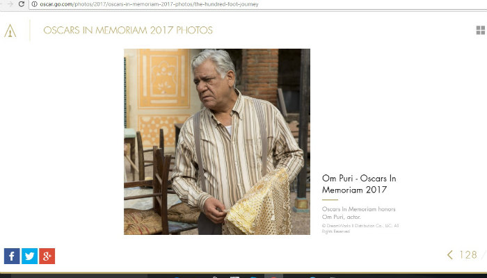 Oscars 2017 pay a tribute to om puri
