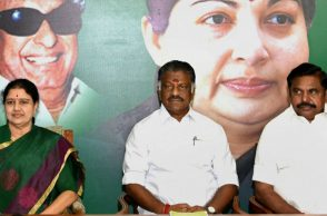 O Panneerselvam and AIADMK General Secretary V K Sasikala
