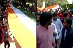 ABVP leads 'Tiranga' march at Ramjas college, raises 'Vande Mataram' slogans