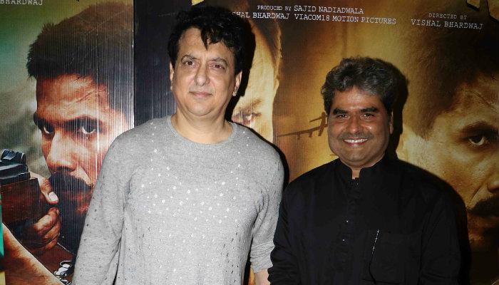 Sajid Nadiadwala and Vishal Bharadwaj at Rangoon screening