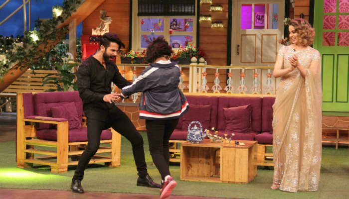 Shahid Kapoor enthralled the audience at The Kapil Sharma Show. Courtesy: Express/Varinder Chawla