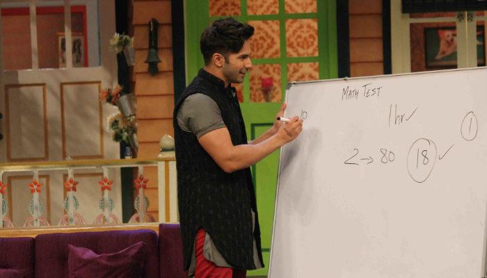 Varun Dhawan promoting BKD on The Kapil Sharma Show (Courtesy: Varinder Chawla)