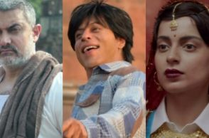 Aamir Khan in Dangal, Shah Rukh Khan in Fan and Kangana Ranaut in Tanu Weds Manu Returns, (Courtesy: YouTube grabs)