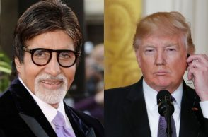 Amitab Bachchan and Donald Trump. (Courtesy: IANS/AP)
