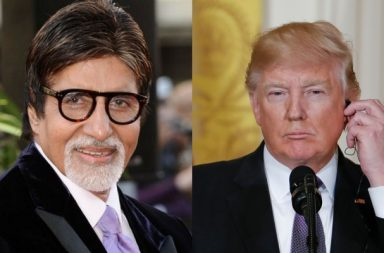 Amitab Bachchan and Donald Trump. (Courtesy: IANS/AP)