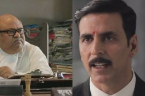 Saurabh Shukla and Akshay Kumar. (Courtesy: YouTube grab/Fox Star Hindi)