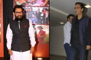 Aamir Khan and Vidhu Vinod Chopra (Courtesy: IANS)