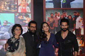 Aamir Khan, Kiran Rao, Mira Rajput and Shahid Kapoor