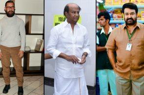 Aamir Khan, Rajinikanth, Mohanlal (Courtesy: IANS)