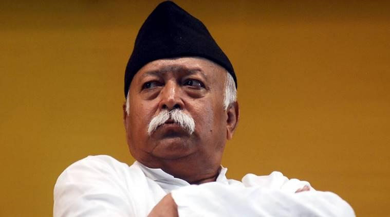 RSS Chief Mohan Bhagwat  participated in a function  on the ocassion of Guru Purnima in Patna on Sunday, July 21,2013. Express Photo BY Prashant Ravi