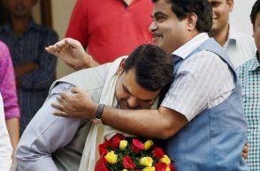 Devendra Fadnavis with Nitin Gadkari