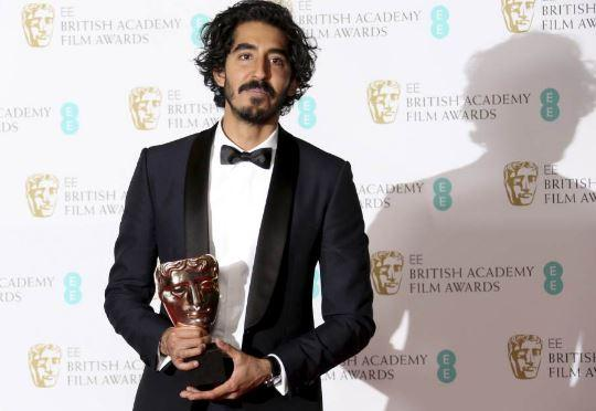 Dev Patel with his Bafta Trophy (Courtesy: Twitter/ ‏@Outlookindia)
