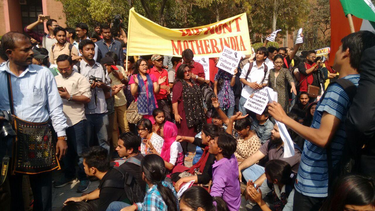 DU protests