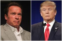 "Arnold Schwarzenegger mocks Donald Trump, asks him to ""switch jobs"""