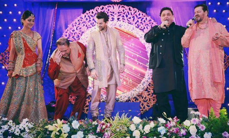 Rishi Kapoor at Neil Nitin Mukesh's wedding (Courtesy: Facebook/The Wedding Story)