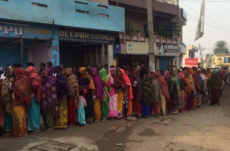 Women voting in Punjab