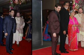 Rekha at Neil Nitin Mukesh's recption