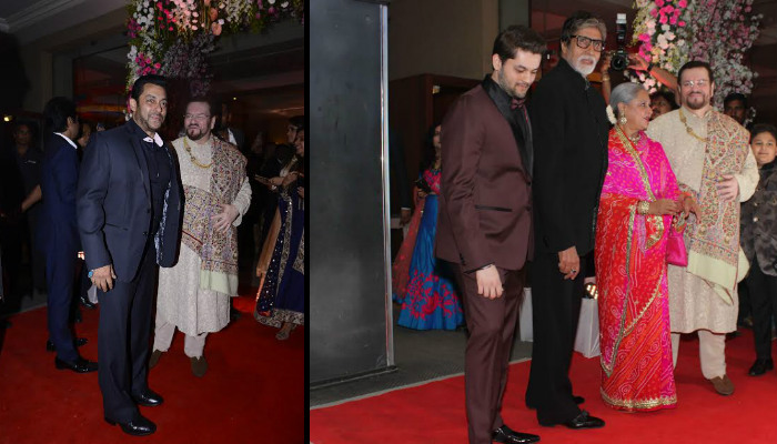 Neil Nitin Mukesh and Rukmini Sahay reception: Salman Khan, Amitabh Bachchan bless the couple [See Pics]
