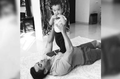 Salman Khan and Ahil (Courtesy: Instagram/ Arpita Khan Sharma)