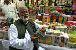 Mohammad Usman at his shop (Photo: Raza Naqvi)