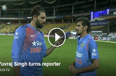 Yuvraj SIngh in interview with Yuzvendra Chahal [Photo Courtesy: BCCI]