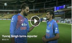 Watch: Yuvraj Singh turns reporter, asks Chahal 'Ball zyada bhaari hai ya aap?'