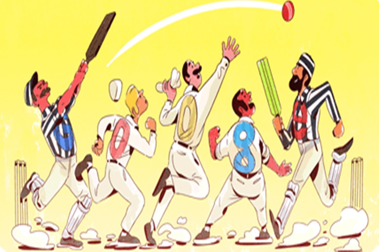 Google celebrates first official test cricket match with a colourful sketch doodle