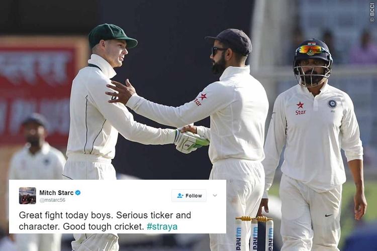 India vs Australia, Ranchi Test: 'A match to remember', Twitteratis hail the spirit of bothteams