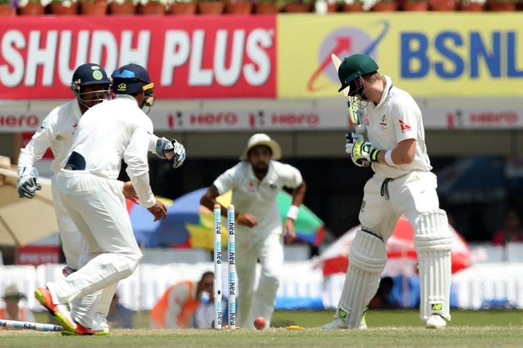 India v Australia, Ranchi Test lunch report: Jadeja bamboozles Smith, visitors trail by69