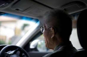 Old age Japanese driver