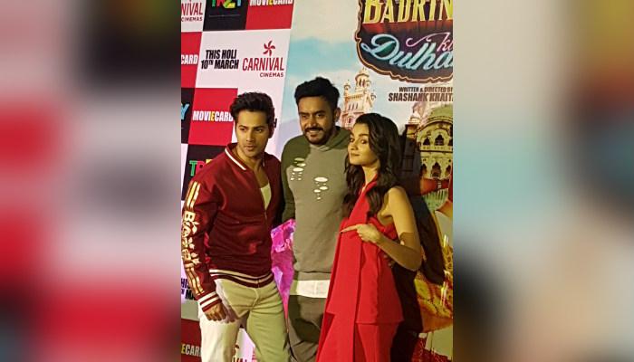 Varun Dhawan, Shashank Khaitan and Alia Bhatt.